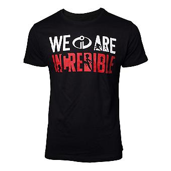 Incredibles 2 The T-Shirt We are Incredible Mens Black X-Large (TS077214INC-XL)