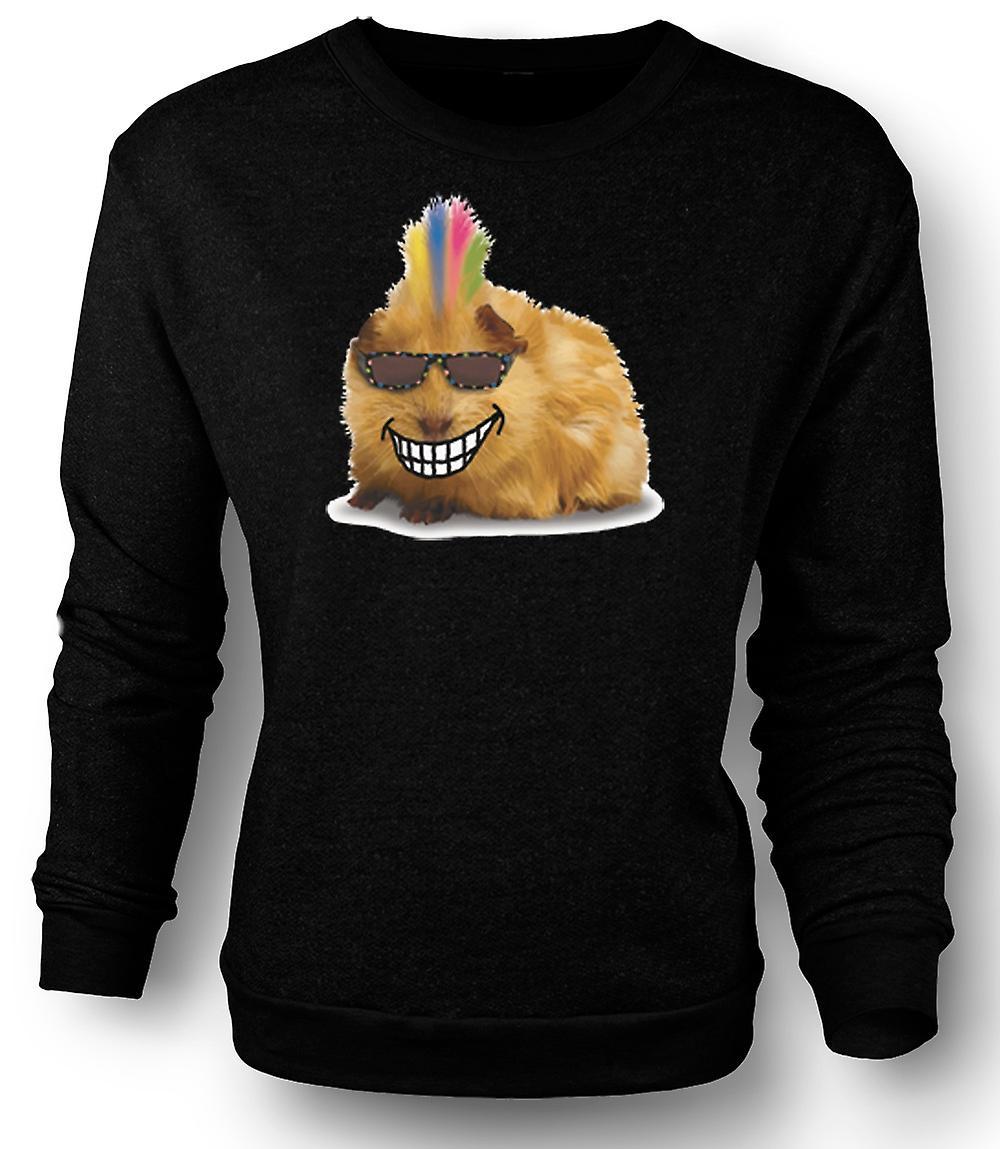 Mens Sweatshirt Mohawk gestylt Meerschweinchen