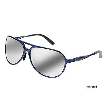 Breed Earhart Aluminium Polarized Sunglasses - Blue/Silver