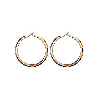 Jewelcity Sunkissed Womens/Ladies Layer Hoop Earrings
