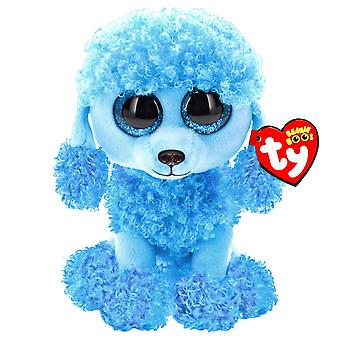 TY Beanie Boos Mandy The Blue Poodle stuffed animal Plush soft 15cm