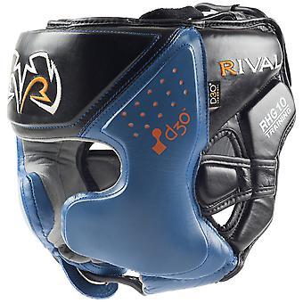 Rival Boxing RHG10 Intelli-Shock d30 Headgear, Black/Blue- mma training sparring