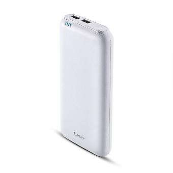 Powerbank CAGER 20000mAh extremt kraftfull Dual USB Vit