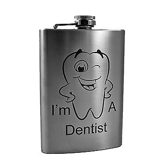 8oz i'm a dentist flask - l1