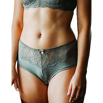 Guy de France 19012-B Women's Khaki Green Lace Knicker Shorties Boyshort