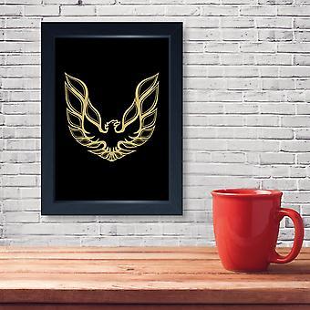 Firebird American Muscle Car, Quality Framed Print - Home Decor Kitchen Bathroom Man Cave Wall Art