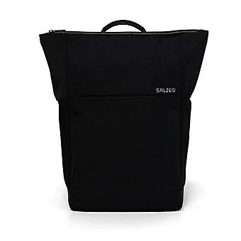 Salzen Fabric Line Zaino Casual - 48 cm - 17 liters - Nero (Phantom Black)