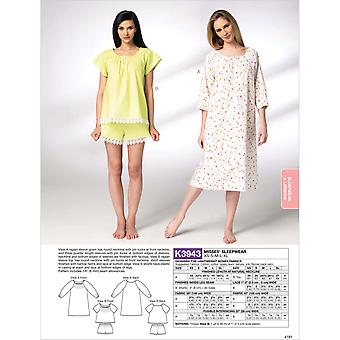 Misses' Sleepwear  Xs  S  M  L  Xl Pattern K3943