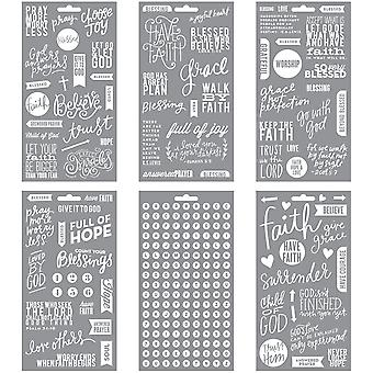 Me & My Big Ideas Pocket Pages Clear Stickers 6 Sheets Pkg Faith Pps 12