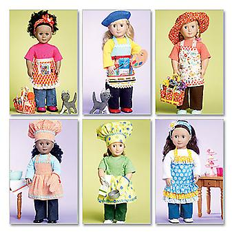 18 46Cm Doll Clothes, Bag, Towel And Cat  One Size Only Pattern M6451  Osz