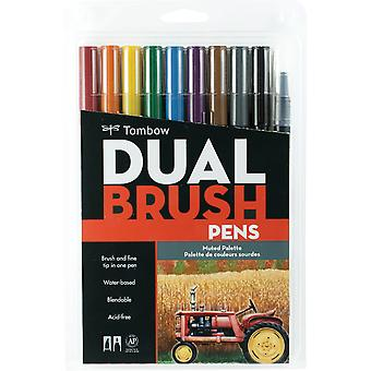 Tombow Dual Brush Pens 10 Pkg Muted Dbp10 56186