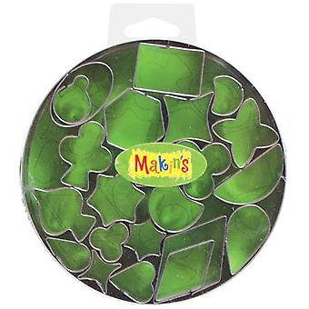 Makin's Clay Cutters 22 Pkg Geometric 37003
