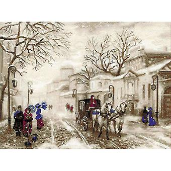 Old Street Counted Cross Stitch Kit 15.75