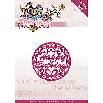 Find It Trading Yvonne Creations Celebrations Die-Happy Birthday YCD10050