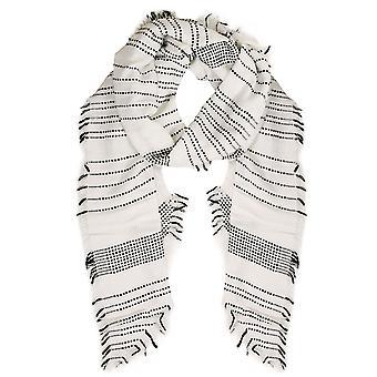 Hvid & sort overdimensionerede Dot & stribe tørklæde