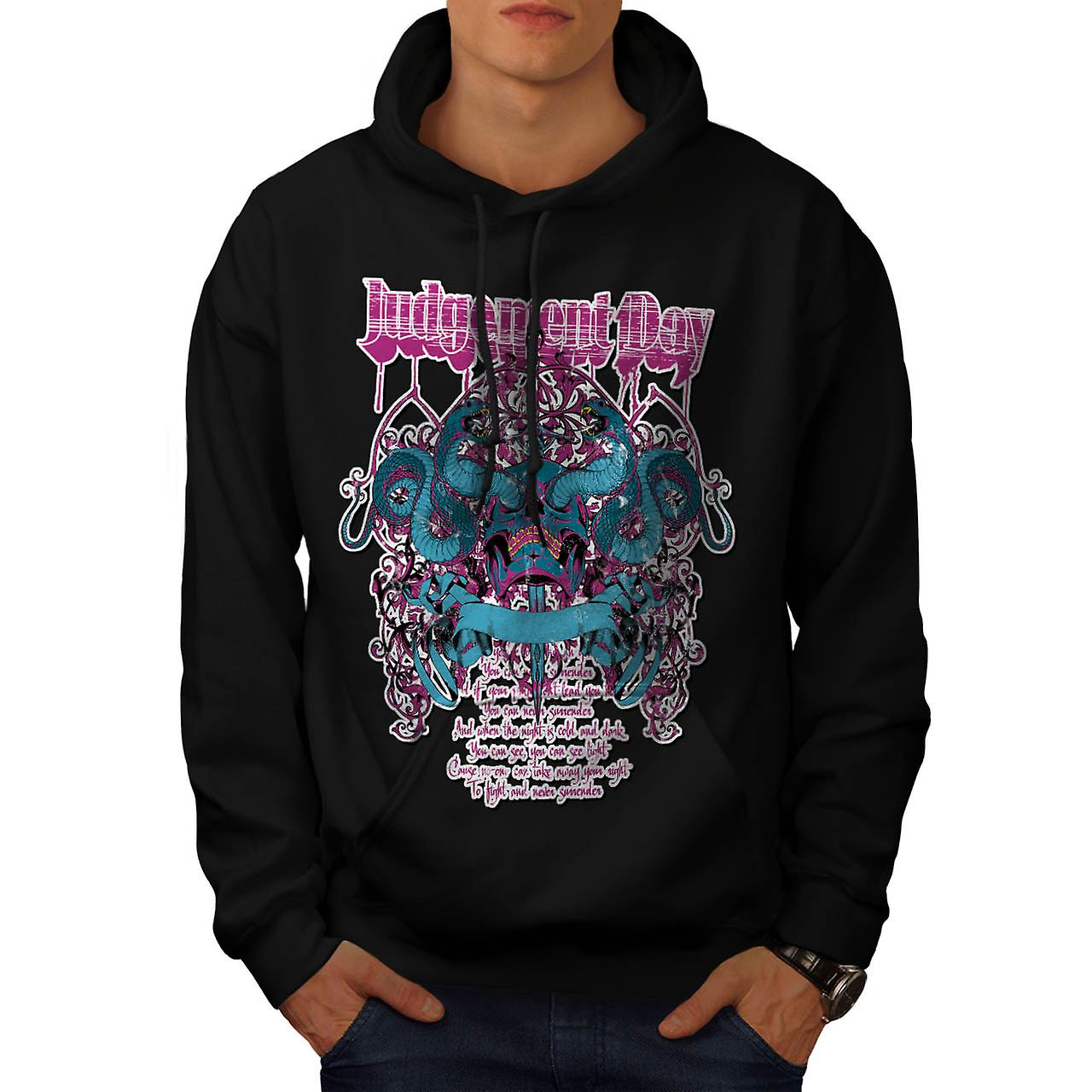 Judgement Day Hell Snake Skull Men Black Hoodie | Wellcoda