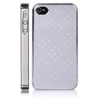 Metallic Matt aluminium locket-iPhone 4/4S (Silver)