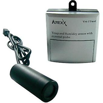 Data logger - sensor Arexx TSN-TH77ext Unit of measurement Temperature, Humidity -40 up to 124 °C 5 up to 100 % RH