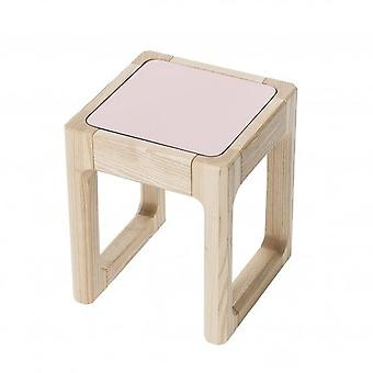 Sebra - Flip Top stool - pastel pink/dark grey