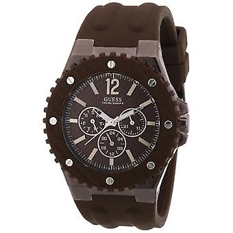 Guess W11619G3 Mens OVERDRIVE Brown Watch