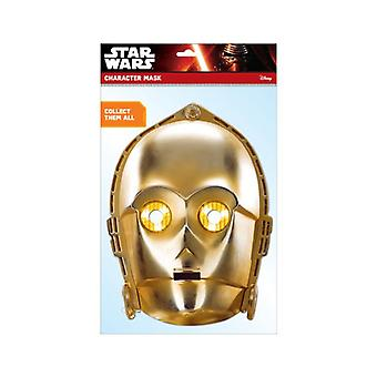C-3PO Official Star Wars 2D Card Party Face Mask