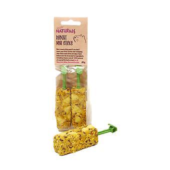 L'ennui Breaker naturel friandises rongeurs Mini bâtons 80g (paquet de 8)