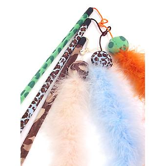 Jolly Moggy Feather Boa Teaser Assorted (Pack of 3)