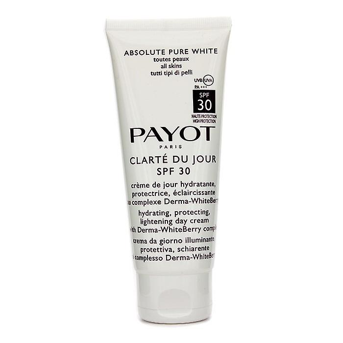 Payot Absolute Pure White Clarte Du Jour SPF 30 Hydrating Protecting Lightening Day Cream (Salon Size) 100ml/3.3oz
