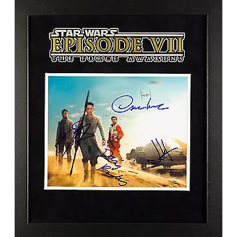 Star Wars - Signed The Force Awakens Photo - Framed Artist Series