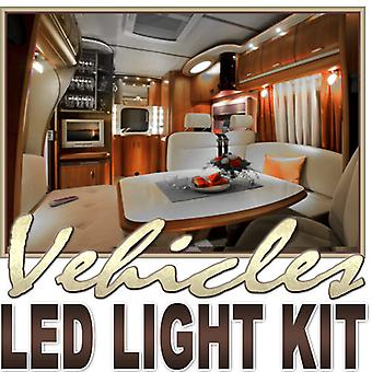 Biltek 2' ft Cool White Fishing Storage Compartment LED Strip Lighting Kit - Motorhome Boat Cabin Yacht Compartment Interior Lighting Waterproof DIY 110V-220V
