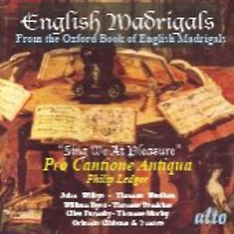 English Madrigals/Sing We at - English Madrigals: Sing We at Pleasure [CD] USA import