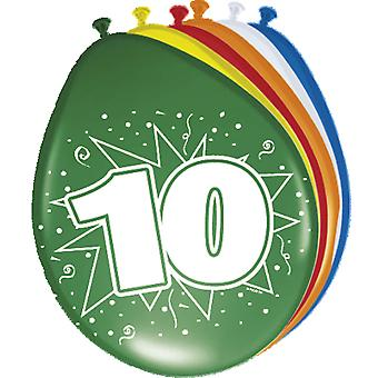 Colorful balloons balloon number 10 birthday 8 St. decoration balloons party