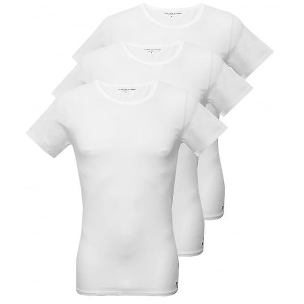 Tommy Hilfiger 3-Pack Premium Crew-hals t-skjorter, hvite