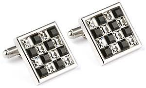 Mousie Bean Purple Square Crystal Cufflinks - Black