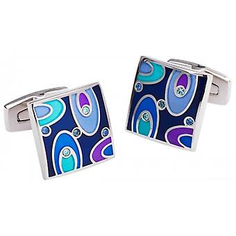 Duncan Walton Easton Cufflinks - Blue/Purple/Silver