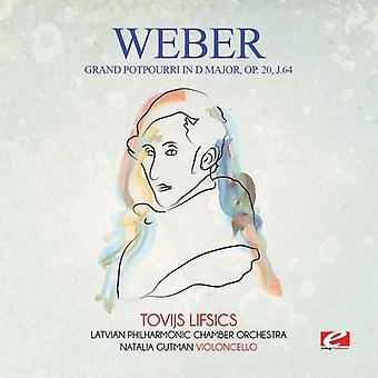 Von Weber - Potpourri Grand w import USA D głównych Op. 20 J.64 [CD]