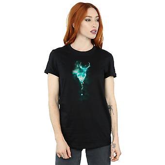 Harry Potter Women's Stag Patronus Mist Boyfriend Fit T-Shirt