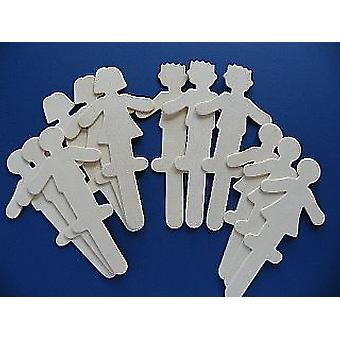 12 Large People Shaped Craft Sticks - Great For Puppets