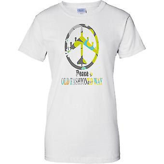 Pace l'Old Fashioned Way - bombardiere B52 floreale - Ladies T-Shirt