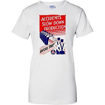 WW2 verdenskrig Propaganda plakat - ulykker tregere - damer T skjorte