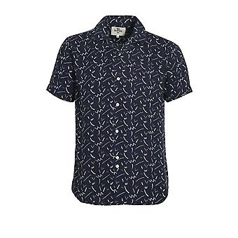 BELLFIELD Willems Short Sleeve Shirt | Navy