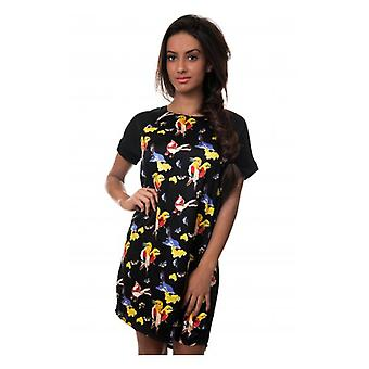 The Fashion Bible Paradise Bird Shift Dress In Black