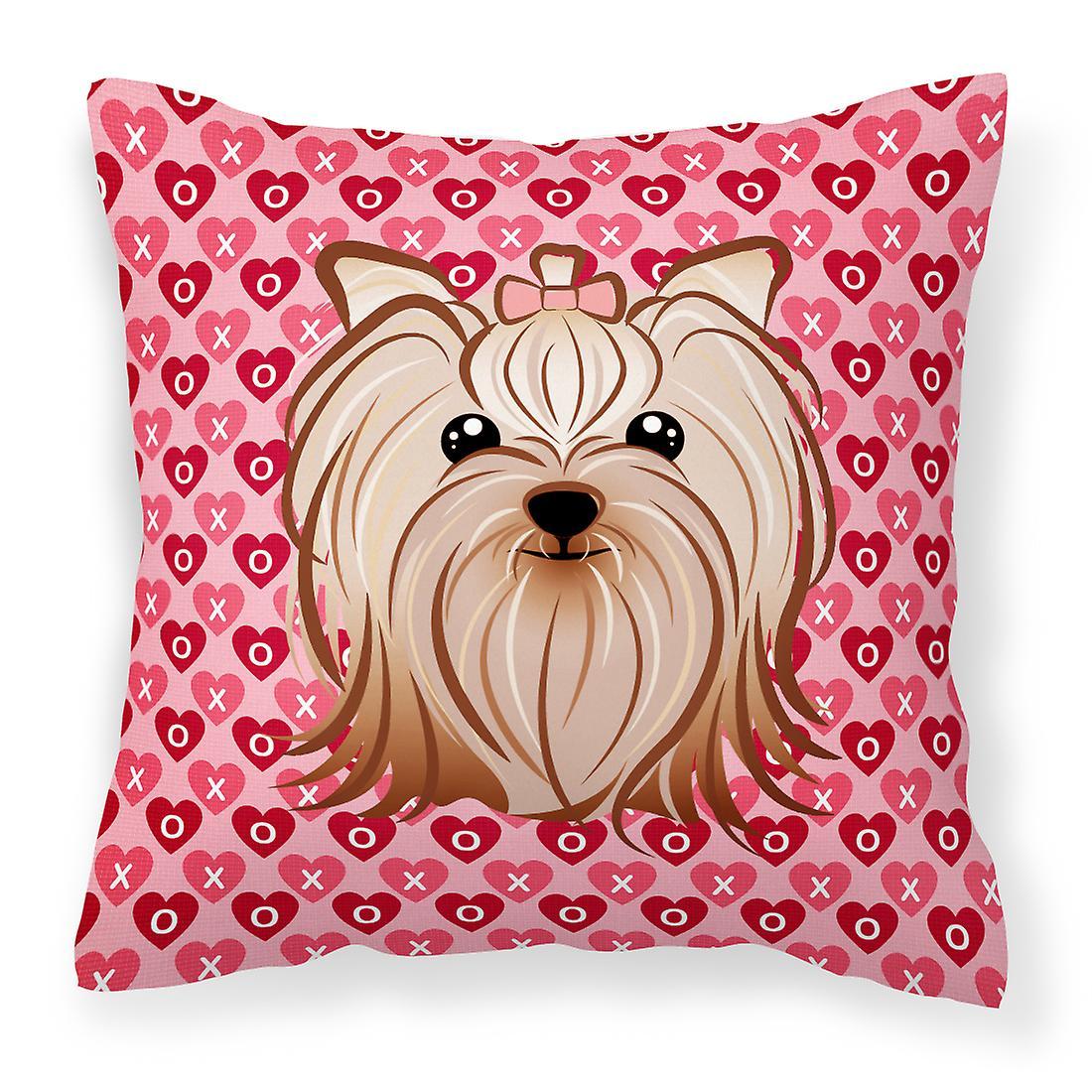 Yorkshire Tissu Yorkishire Coeurs Décoratif Oreiller Terrier yY6gb7fv