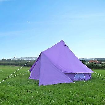 Boutique Camping Bell Tent Triangle Tarp - Pastel Lilac