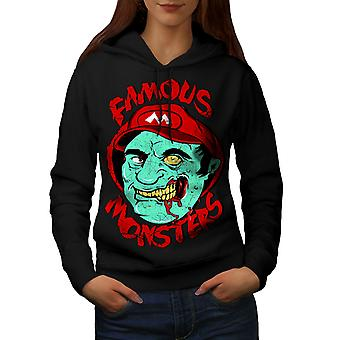 Mario Monster toten Frauen BlackHoodie | Wellcoda