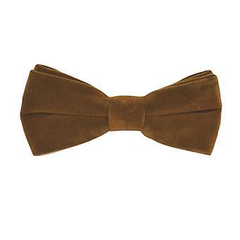 Luxury Gingerbread Brown Velvet Bow Tie