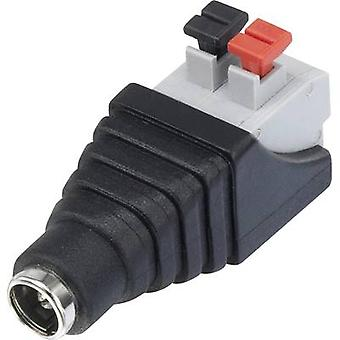 Low power connector Socket, straight 5.5 mm 5.5 mm 2.1 mm