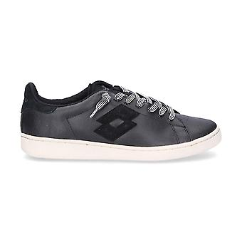 Lotto men's T813BLACK black leather of sneakers