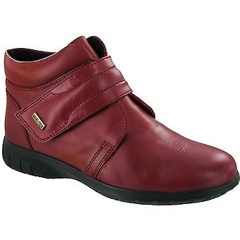 Cotswold Ladies Chalford Touch Fastening Leather Waterproof Boot Red