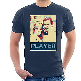 Roger Moore Tanya Roberts James Bond 007 1985 Player Poster Style Men's T-Shirt